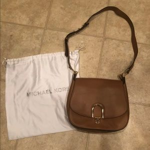 New Michael Kors Delfina Acorn Large Saddle Bag